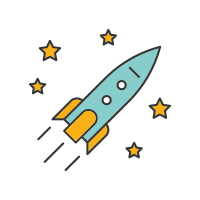 Rocketship icon - Quick Feedback